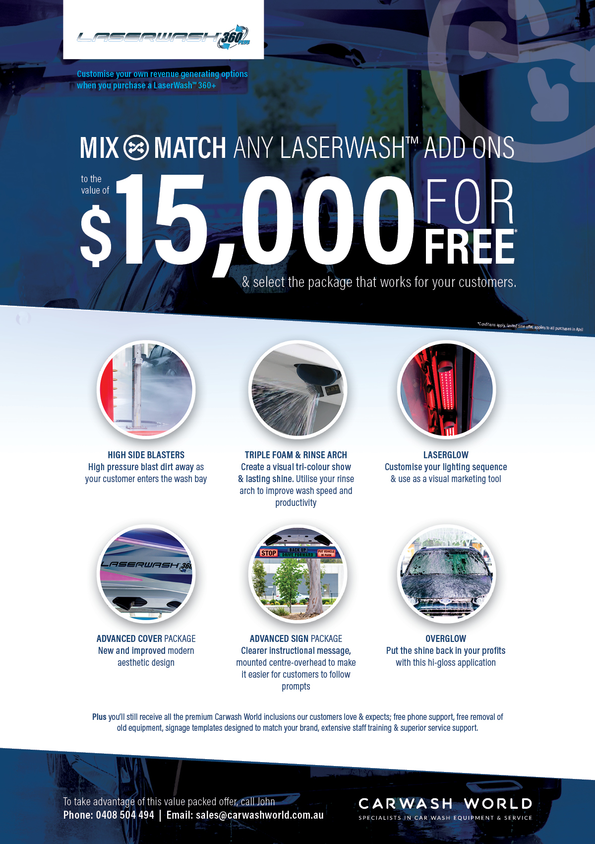 Mix and Match LaserWash special offer